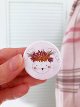 Floral Rabbit Badge