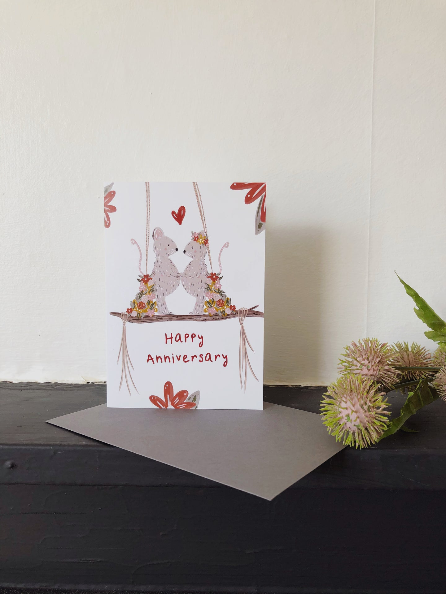 Mouse Anniversary Card