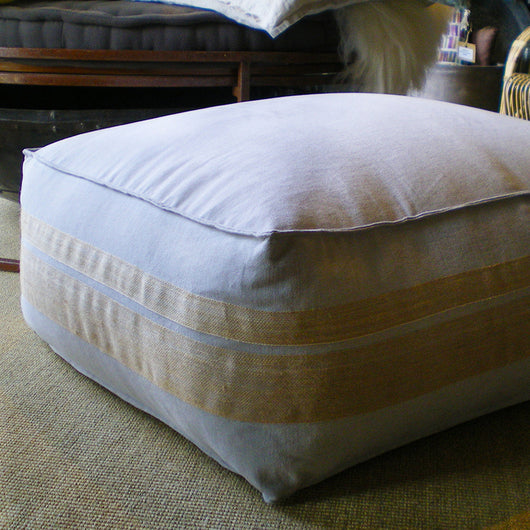 Pouf Canvas e Juta 90/70/30