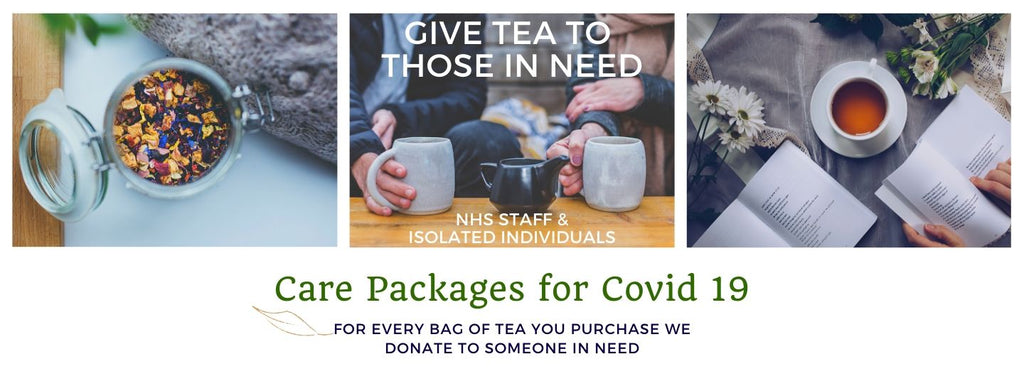 Donating tea to those in need during coronavirus