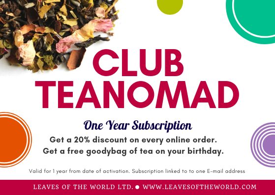 Club TeaNomad 1 year Subscription