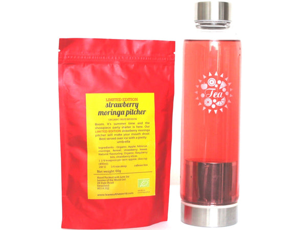 Strawberry Moringa Pitcher Iced Tea Thermos Bundle (40% off SMP Limited Edition!)