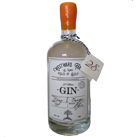 Westward Farm 28 Miles Gin - Honey & Orange - 70cl