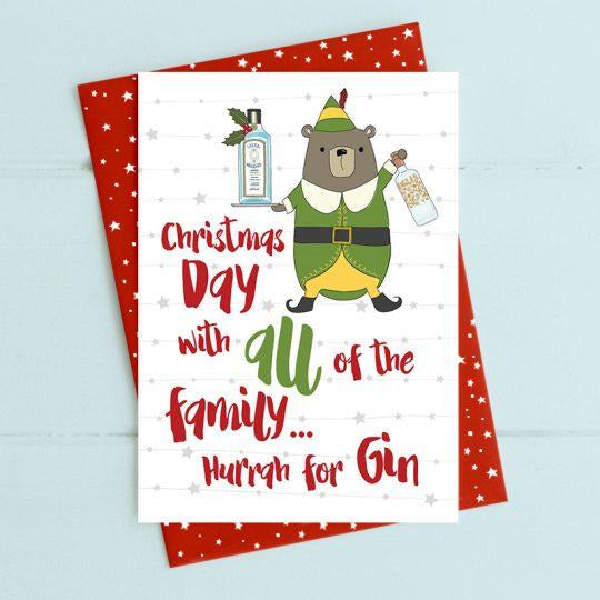 Christmas Day with all the Family Greetings Card