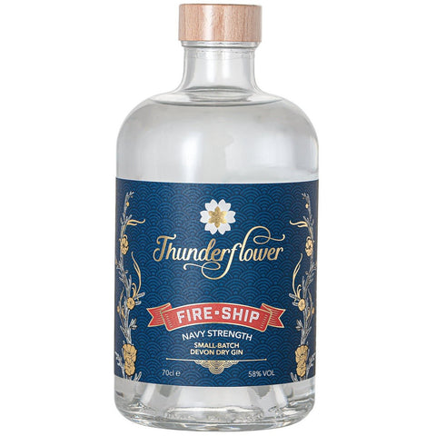Thunderflower Fire Ship Navy Strength Gin - 70cl