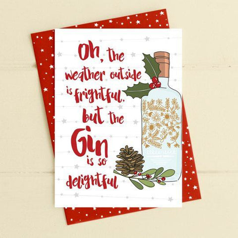 Weather outside is frightful Greetings Card