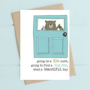 Going on a Gin Hunt Greetings Card