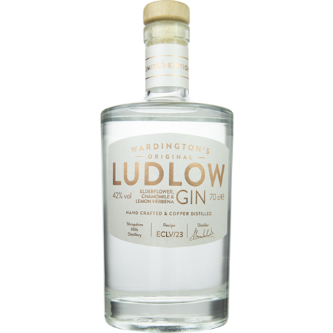 Ludlow Elderflower, Chamomile & Lemon Verbena Gin - 70cl