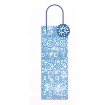 Single Bottle Blue Snowflake Gift Bag