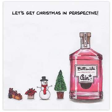 Let's Get Christmas in Perspective Greetings Card