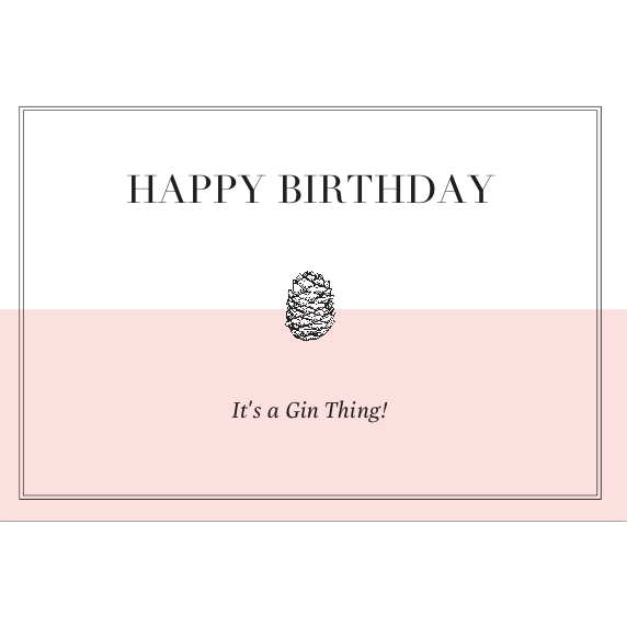Happy Gin Birthday Card - Pink