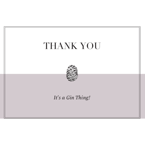 Gin Thank You Card