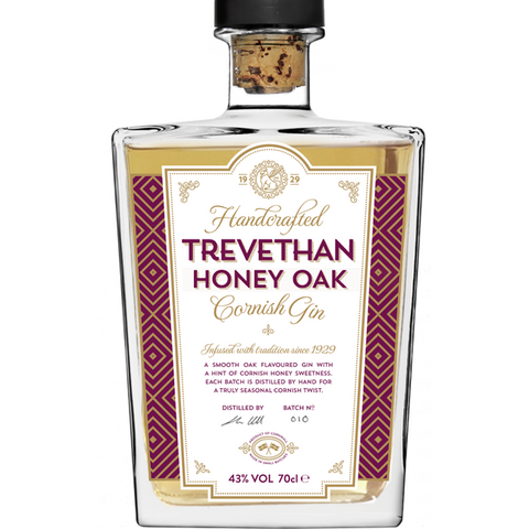 Trevethan Honey Oak Cornish Gin - 70cl
