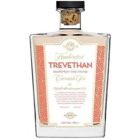 Trevethan Grapefruit & Lychee Cornish Gin - 70cl