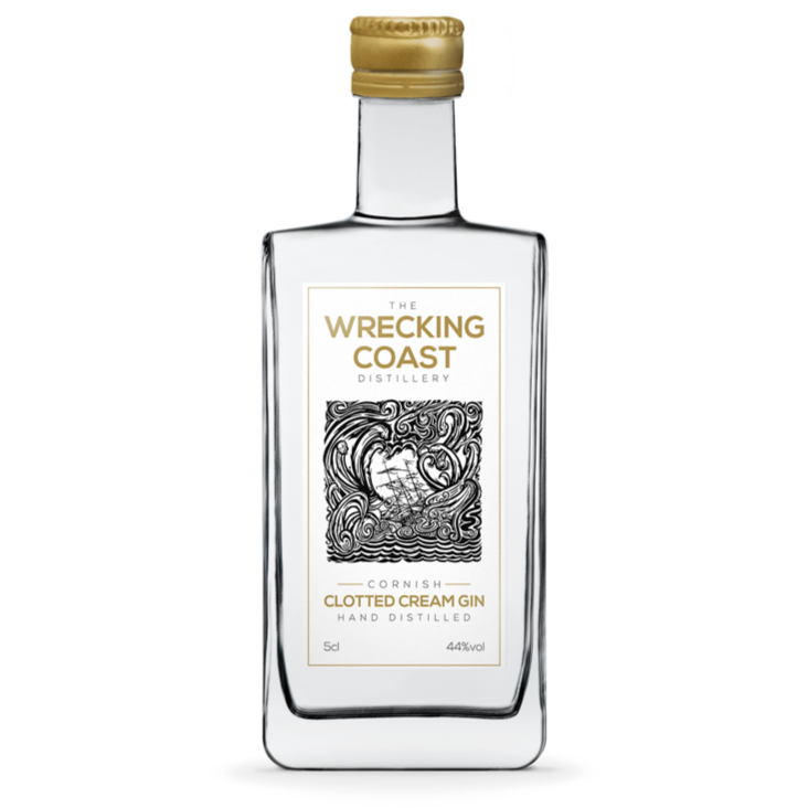 Wrecking Coast Cornish Clotted Cream Gin  Miniature - 5cl