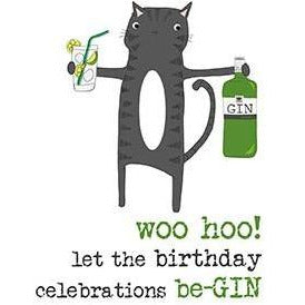 Let the birthday celebrations be-GIN Greetings Card
