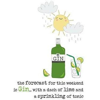 Forcast is Gin Greetings Card