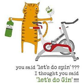 Spin & Gym Greetings Card