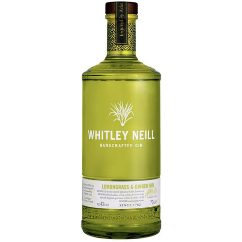 Whitley Neill Lemongrass & Ginger Gin - 70cl