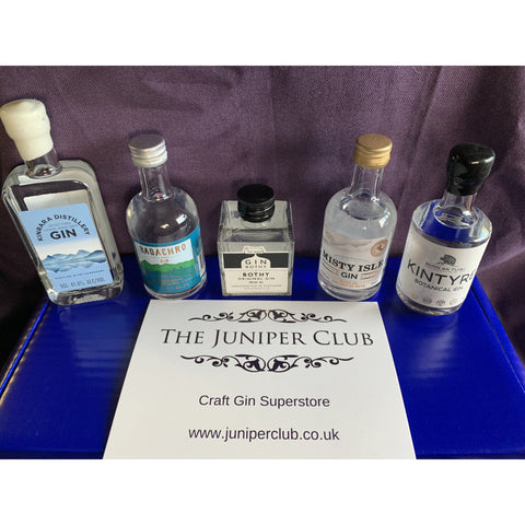 Scottish Gins Miniature Collection Box