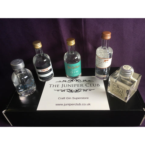 Black Miniature Craft Gins Box