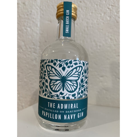 The Admiral Papillon Navy Gin Miniature - 5cl