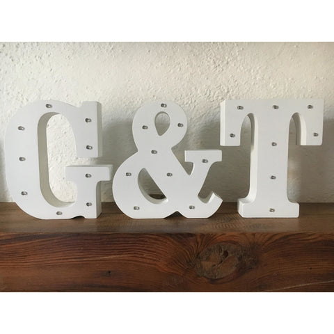 G&T letters decoration