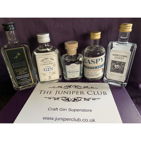 Cornish Miniature Gins Luxury Purple Collection Box