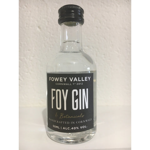 Fowey Valley Foy Cornish Gin Miniature - 5cl
