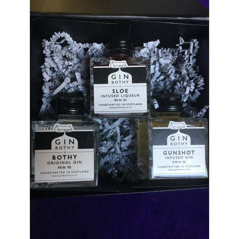 Gin Bothy Trio Gin Miniatures Gift Box