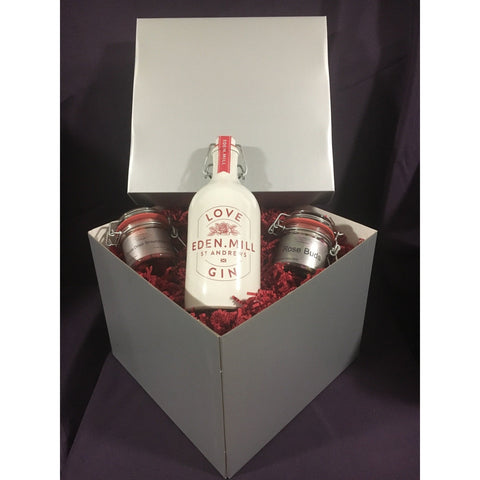 Silver Mother's Day Love Gin & Garnishes Gift Box