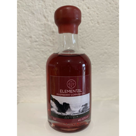 Elemental Cornish Raspberry Gin Miniature - 5cl