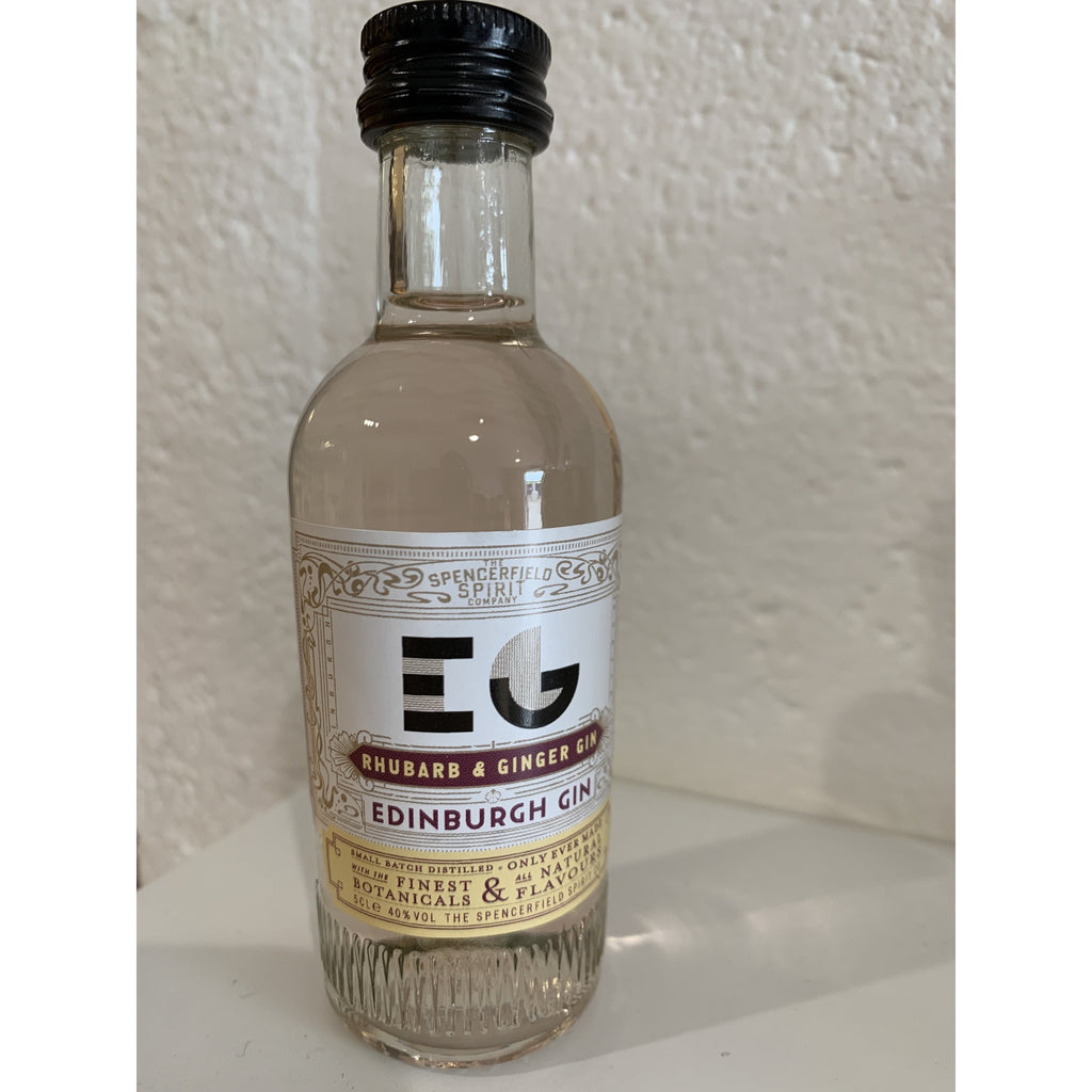 Edinburgh Rhubarb & Ginger Gin Miniature - 5cl