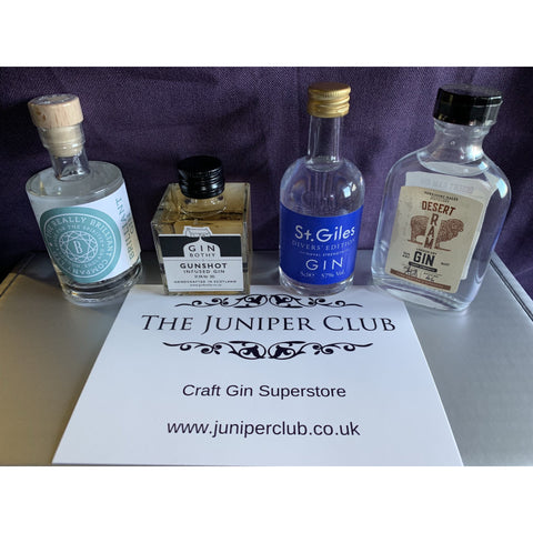 Gentleman's Miniature Gins Collection Gift Box
