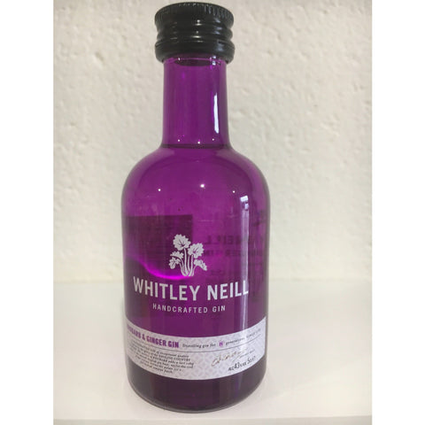 Whitley Neill Rhubarb & Ginger Gin Miniature - 5cl