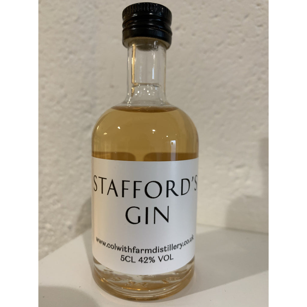 Stafford's Rhubarb & Ginger Miniature Gin - 5cl