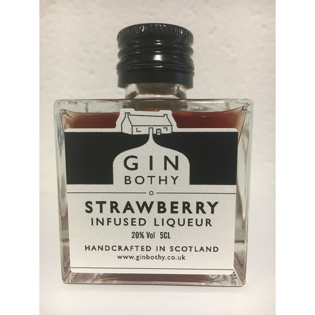 Gin Bothy Strawberry Gin Liqueur Miniature - 5cl