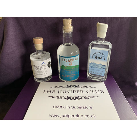 Scottish Gins Luxury Purple Collection Box