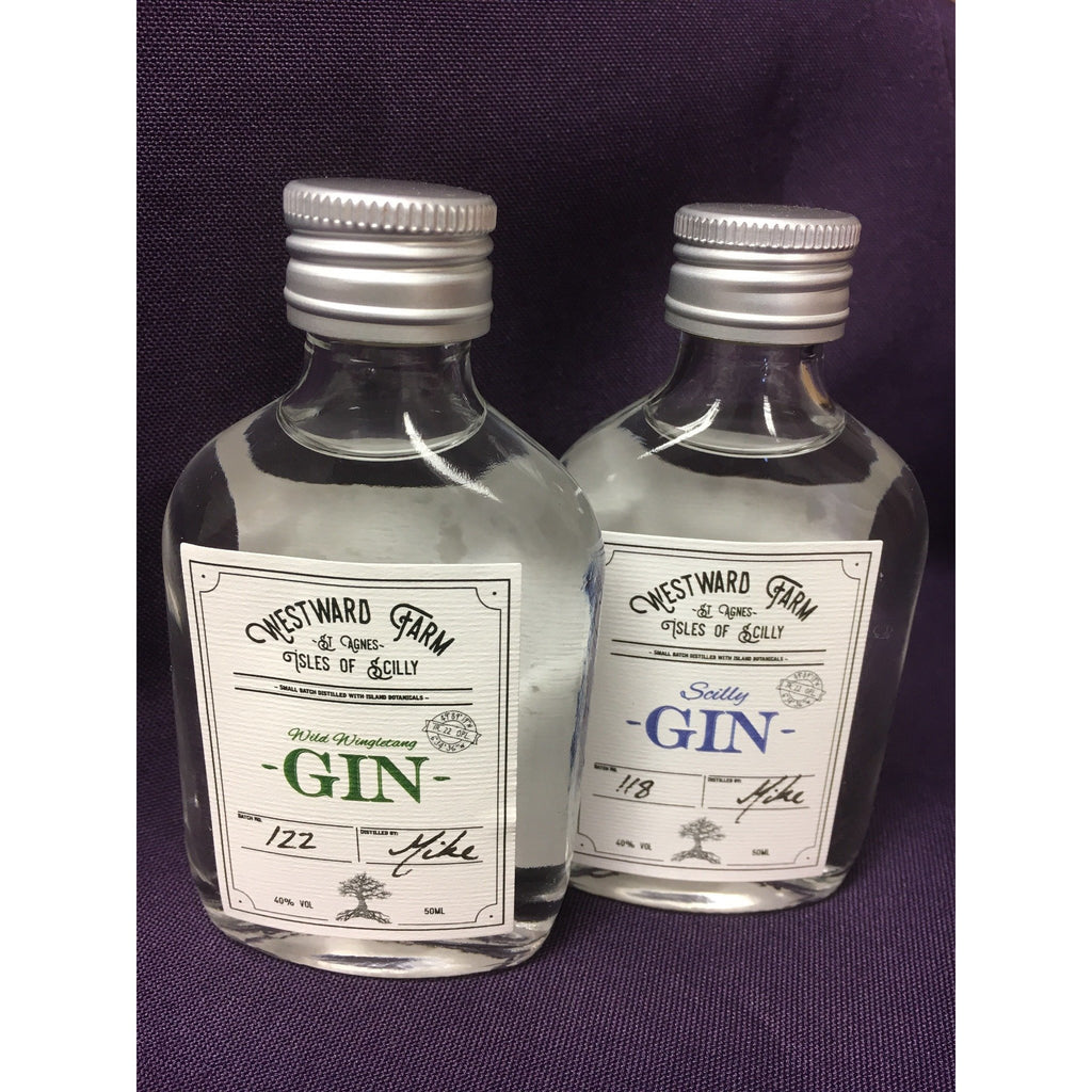 Isles of Scilly Miniature Gins Gift Bag