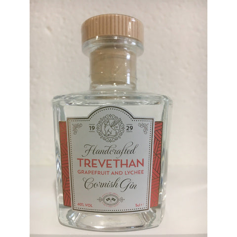 Trevethan Grapefruit & Lychee Cornish Gin Miniature - 5cl