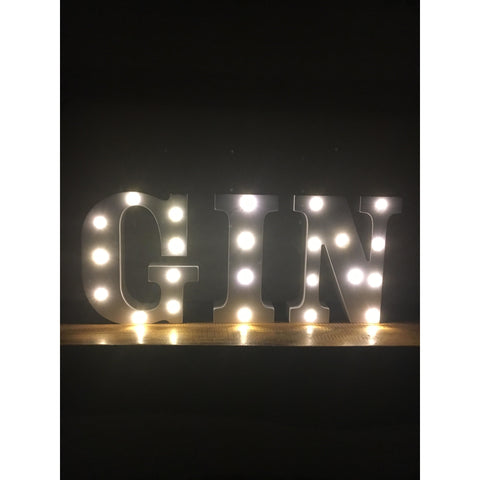 GIN letters decoration