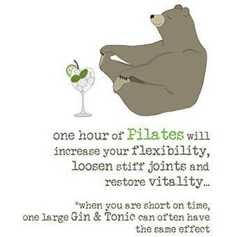 Pilates & Gin Greetings Card