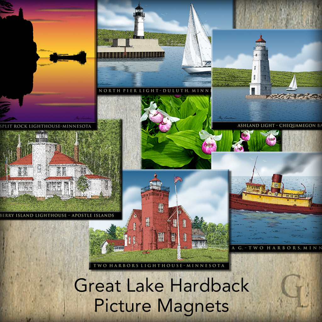 Great Lake Hardback Picture Magnets