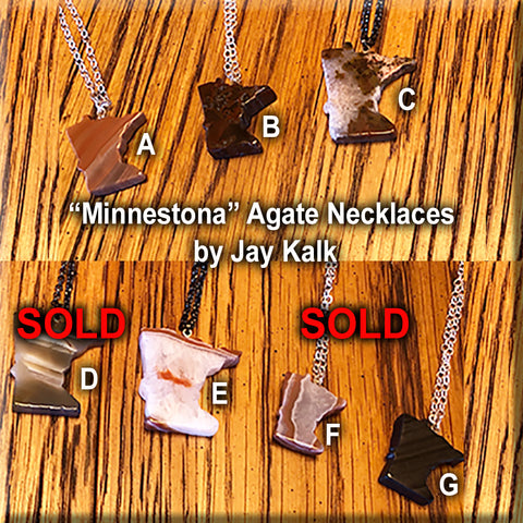 Minnestona Cut Stone and Agate Necklaces