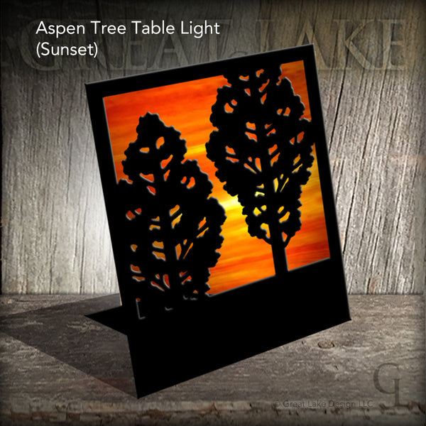 Great Lake Steel & Stained Glass Accent Light