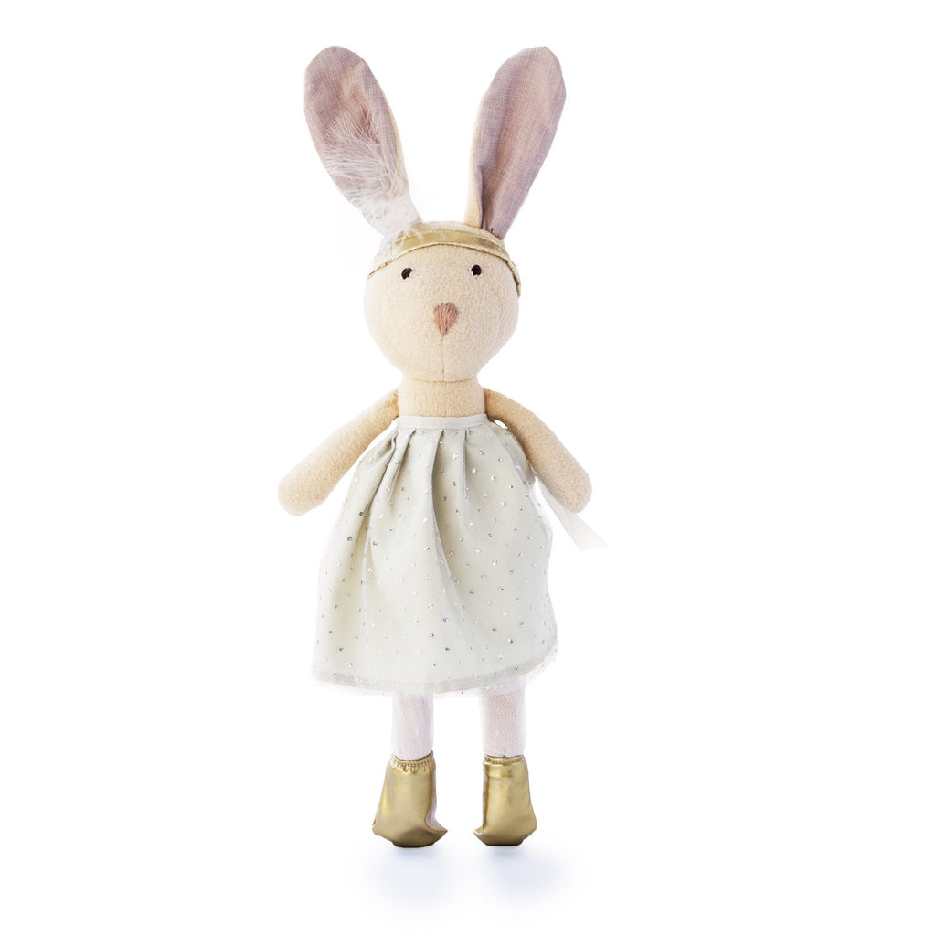 Juliette Rabbit in Silver and Gold Party Outfit