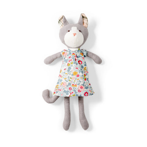 "Gracie Cat in Liberty of London ""Sweet Rose"" Dress"