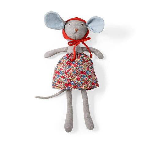 Catalina Mouse in Hedgerow Skirt and Bonnet