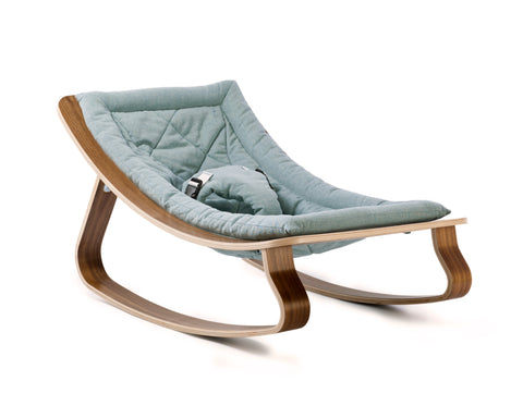 LEVO Rocker Walnut - Aruba Blue
