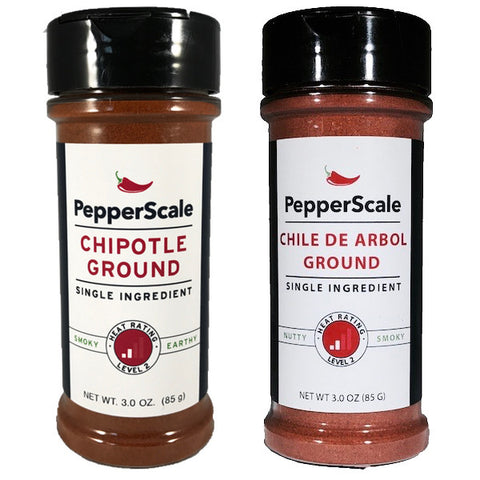 """Smoke It Up!"" Set - Chipotle And Chile De Arbol Powders"